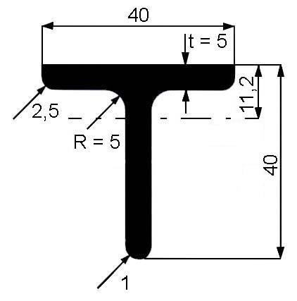 T 40x40x5
