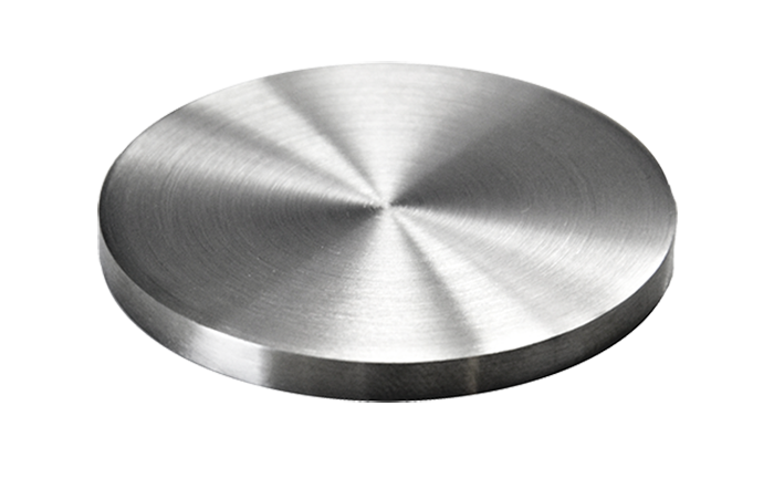 Ukončení-krytka (ø 42.4mm / H: 4mm), broušená nerez K320 / AISI304