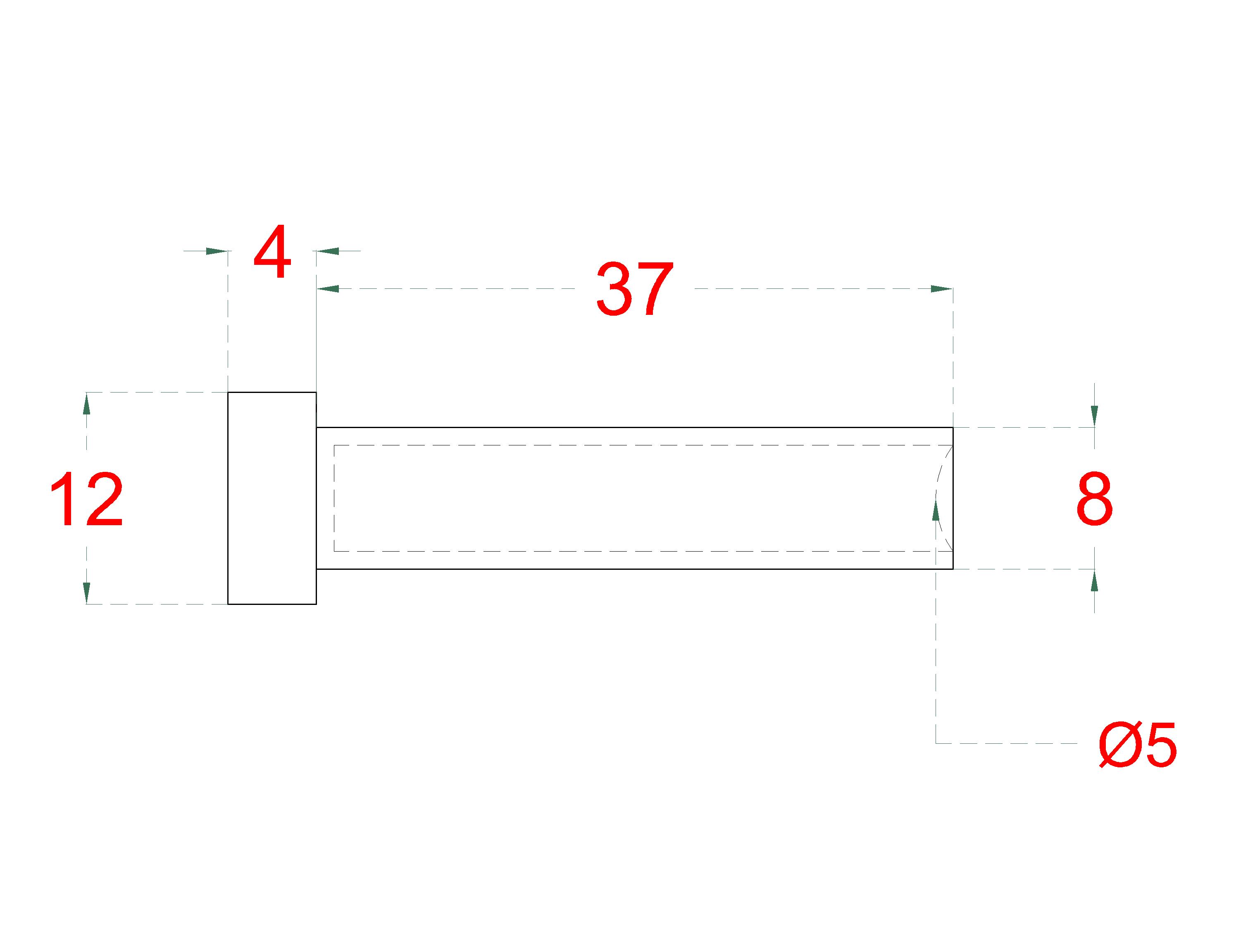 Lepicí úchyt pro nerezové lanko ø5mm, broušená nerez K320/AISI304