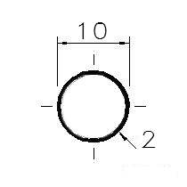 Trubka 10x2   bezešvá     1.4301 nerez