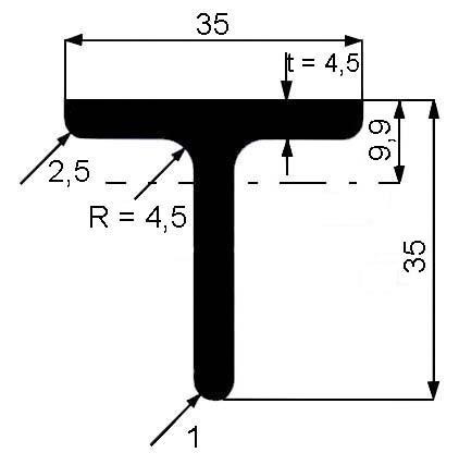 T 35x35x4,5