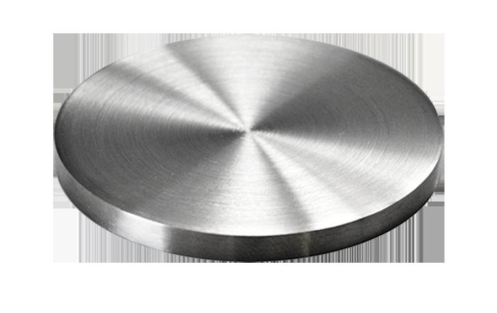 Ukončení-krytka (ø 48.3mm / H: 4mm), broušená nerez K320 / AISI304