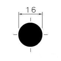 Ocel kruhová 16