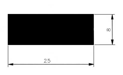 Plochá ocel 25x8