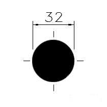 Tažená ocel kruh. 32
