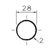 Trubka konstrukční 28x2