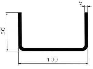 Jekl U 100x50x50x5