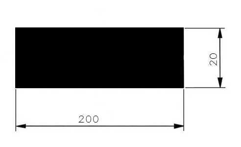Plochá ocel 200x20