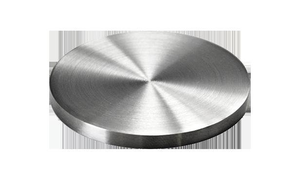 Ukončení-krytka (ø 33.7mm / H: 4mm), broušená nerez K320 / AISI304