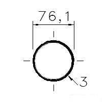 Trubka konstrukční 76x3/76,1x3
