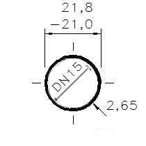 Trubka bzv. hl. 1/2  /DN 15/21,8-21,0 x 2,65/