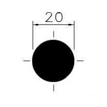 Tažená ocel kruh. 20