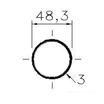 Trubka konstrukční 48x3/48,3x3/