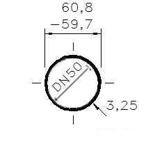 Trubka sv. žárově pozink. 2 /DN 50/60,3-59,7 x 3,25