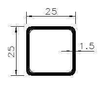 Jekl 25x25x1,5