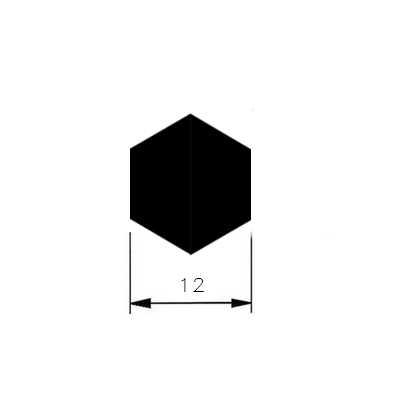 Tažená ocel 6HR. 12mm/AUTOMAT/
