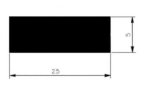 Plochá ocel 25x5