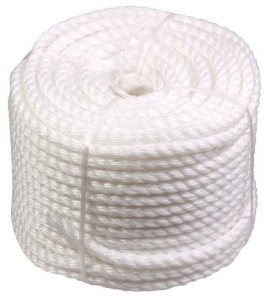 Silonové lano 8mmx50M bílé