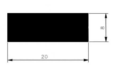 Plochá ocel 20x8