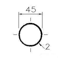 Trubka konstrukční 45x2