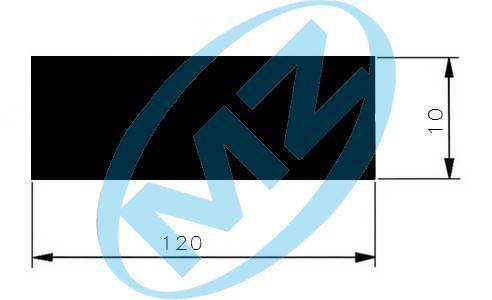 Plochá ocel 120x10     1.4301 nerez střih