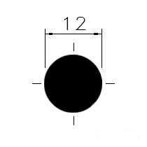 Tažená ocel kruh. 12