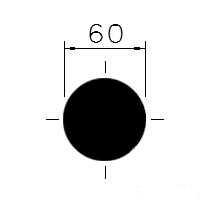 Tažená ocel kruh. 60